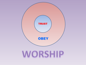 Trust Obey WORSHIP